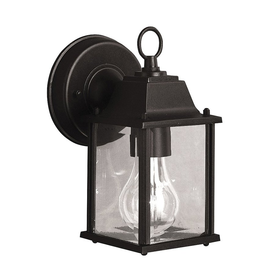 Kichler Barrie 8 5 In H Black Outdoor Wall Light At Lowes Com