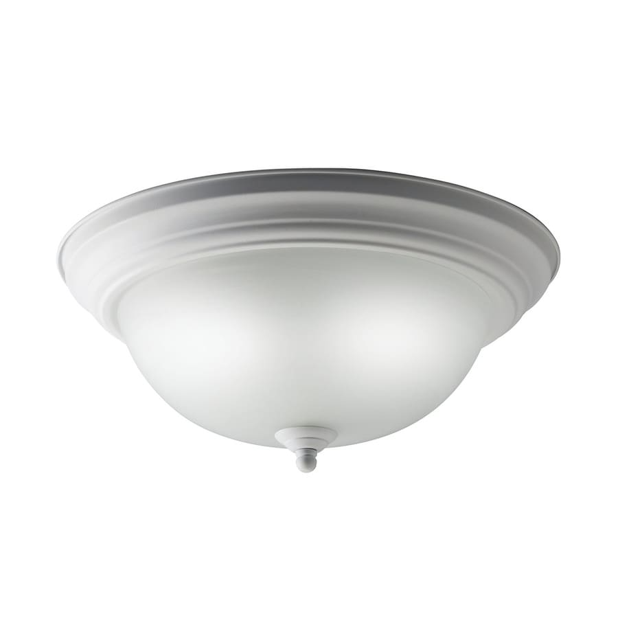 Kichler Senna White Glass Flush Mount Fluorescent Light (Common: 1-Ft; Actual: 13.25-in)