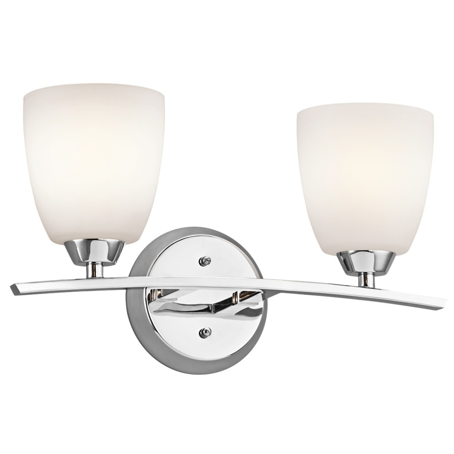 Kichler Granby 2-Light 9.5-in Chrome Bell Vanity Light