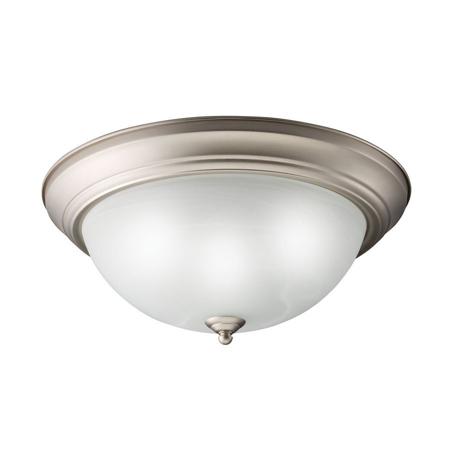 Kichler Senna White Glass Flush Mount Fluorescent Light (Common: 1.5-Ft; Actual: 15.5-in)