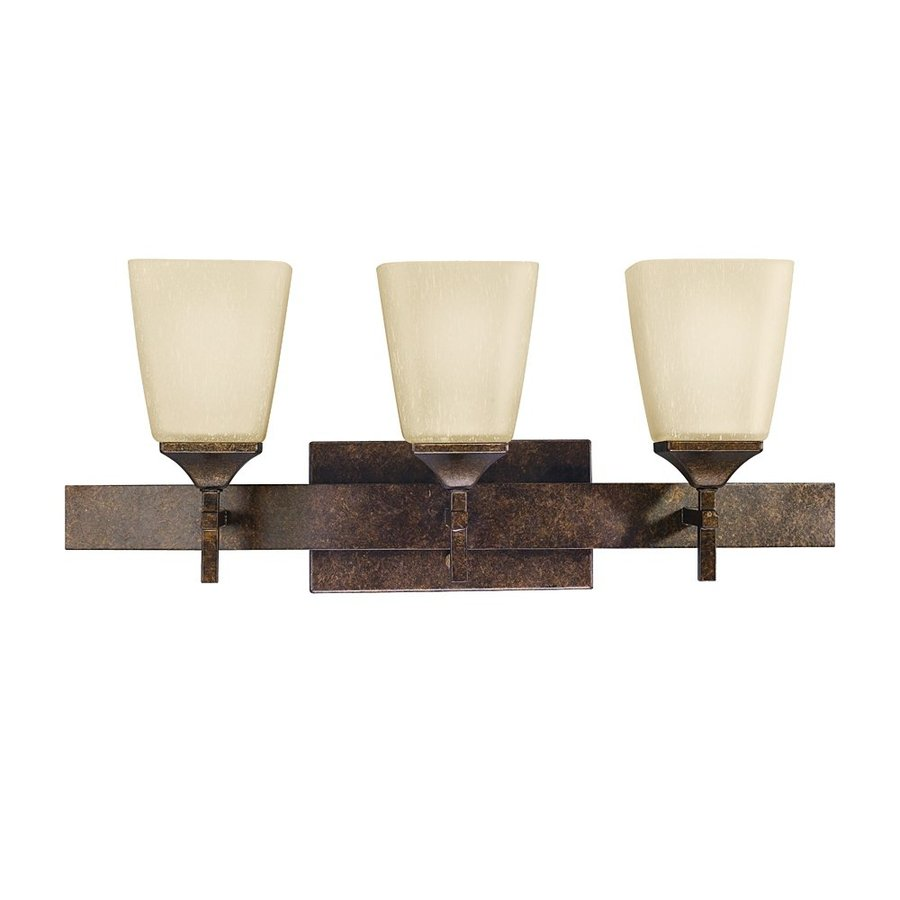 Kichler Lighting Souldern 3-Light 9.5-in Marbled Bronze Rectangle Vanity Light