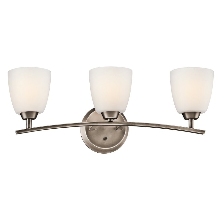 Kichler Lighting Granby 3-Light 9.5-in Brushed Pewter Bell Vanity Light