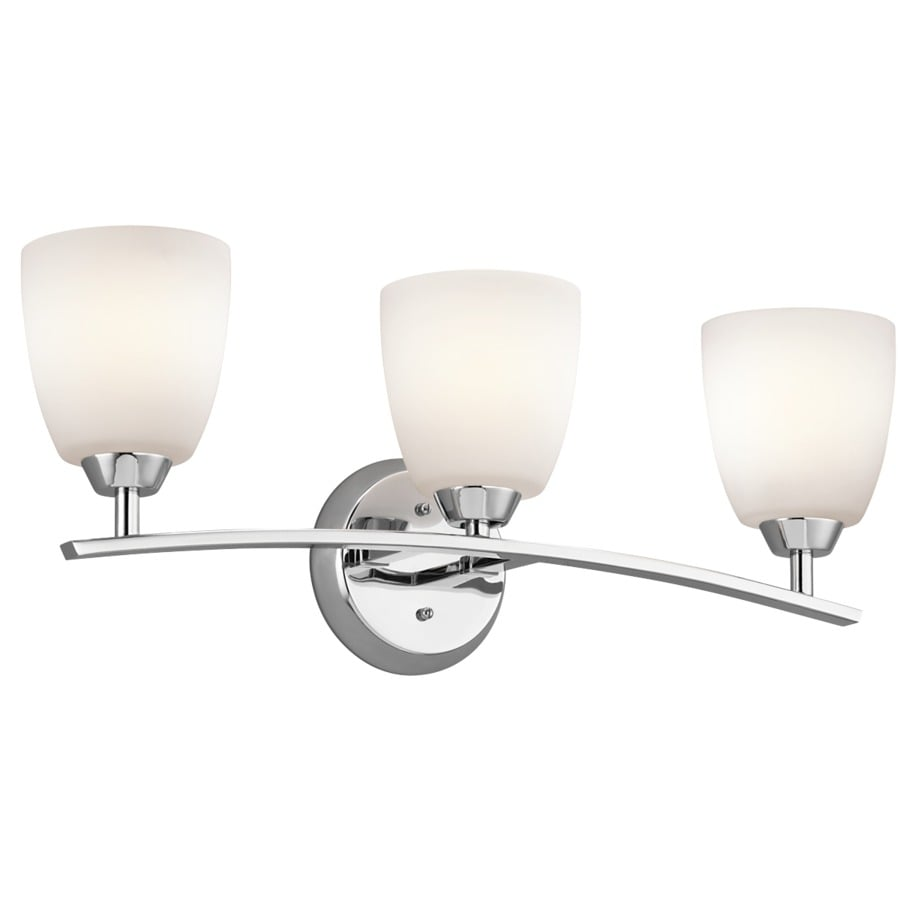 Kichler Granby 3-Light 9.5-in Chrome Bell Vanity Light