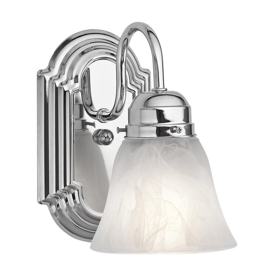 Kichler Lighting New Street 1-Light 8-in Chrome Bell Vanity Light