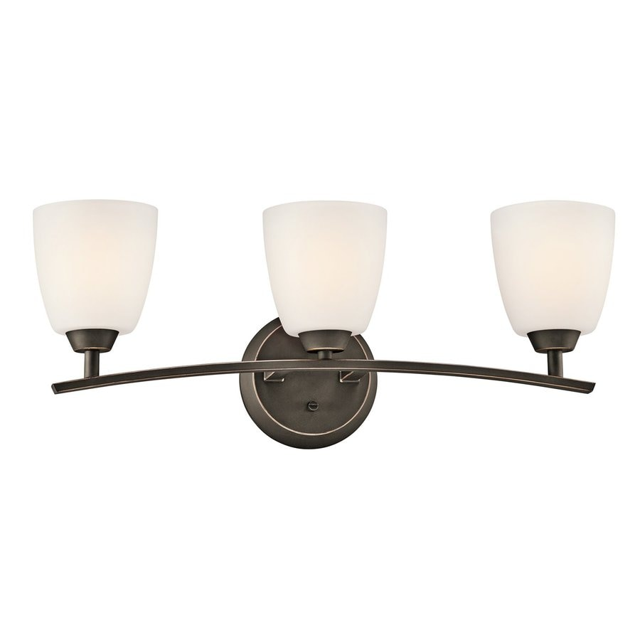 Kichler Lighting Granby 3-Light Olde Bronze Bell Vanity Light