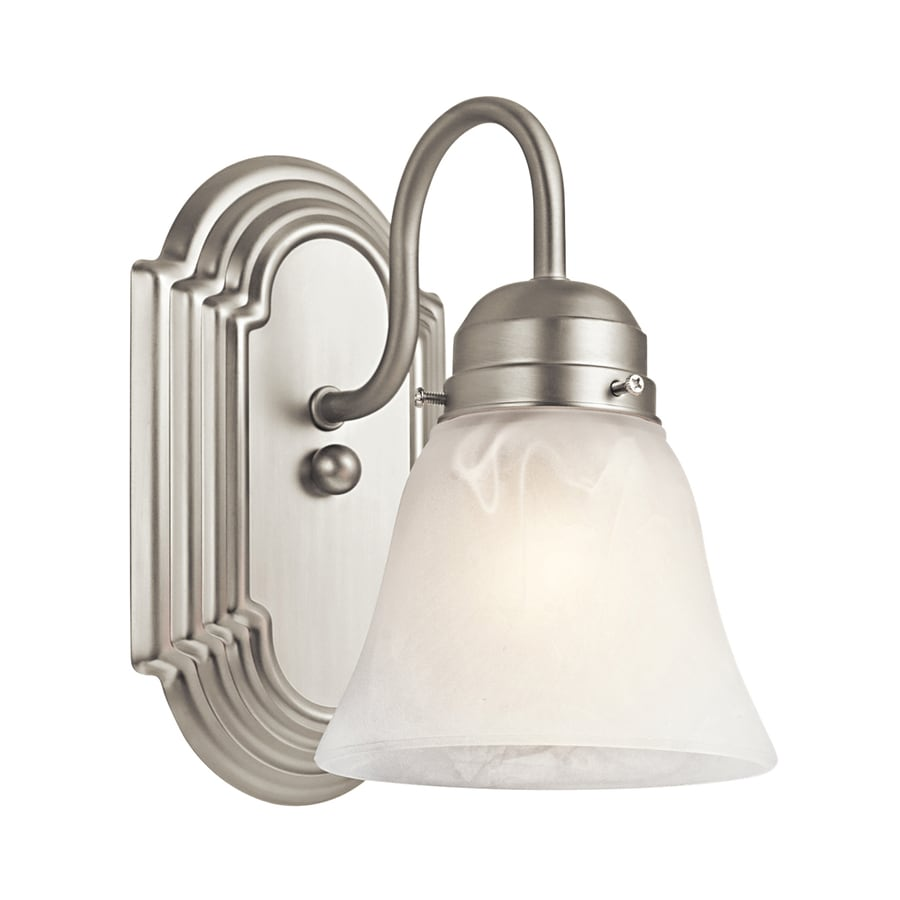 shop kichler new 1 light 5 25 in brushed nickel 13301