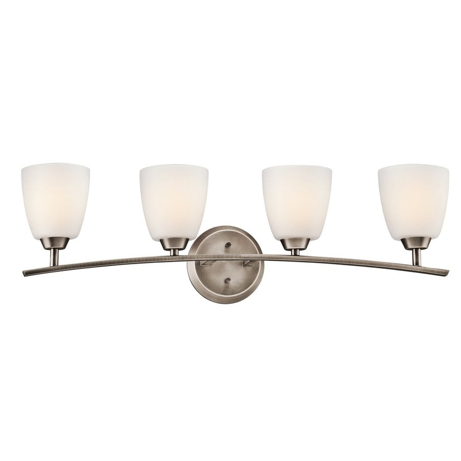 Kichler Granby 4-Light 9.5-in Brushed Pewter Bell Vanity Light