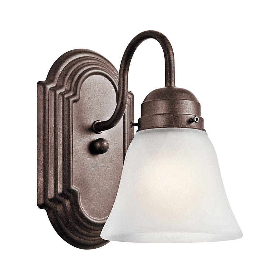 Kichler Lighting New Street 1-Light 8-in Tannery Bronze Bell Vanity Light