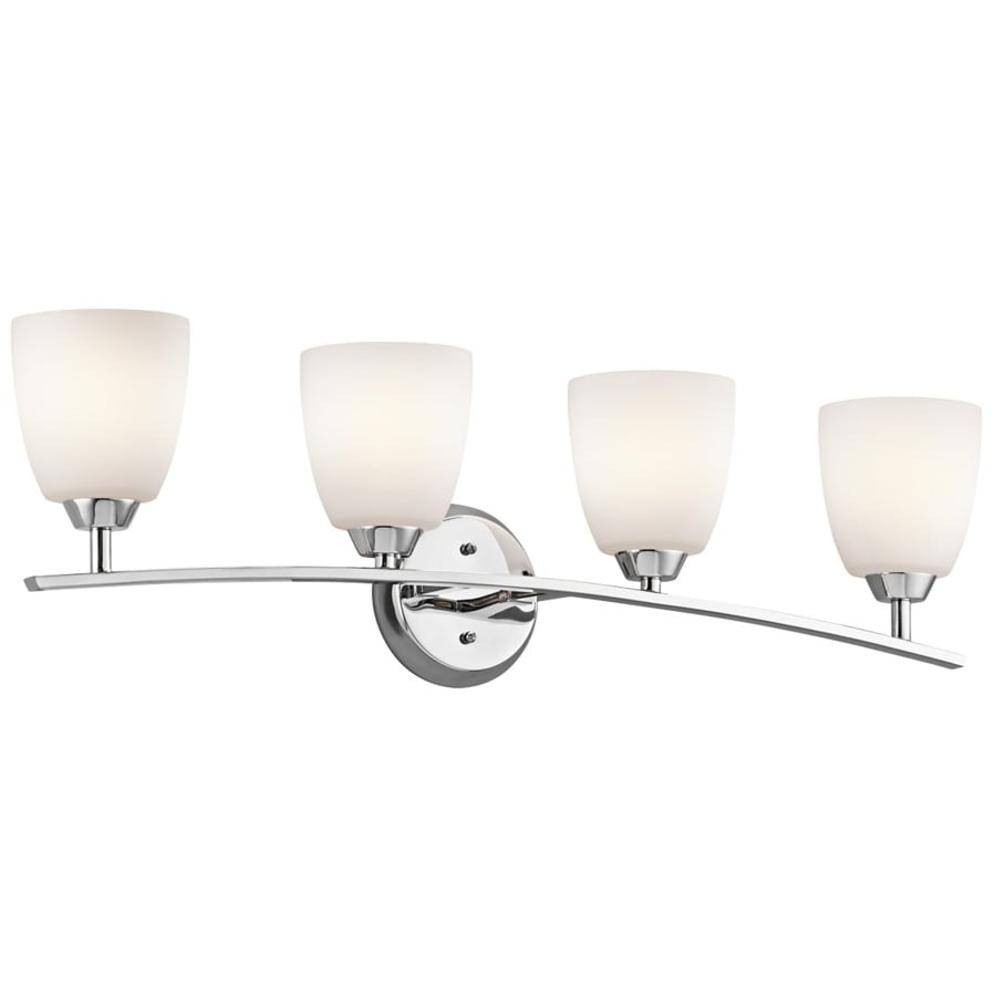 Kichler Lighting Granby 4-Light 9.5-in Chrome Bell Vanity Light