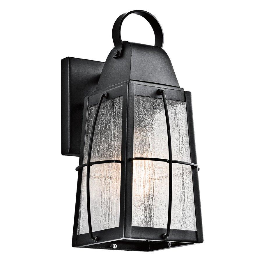Kichler Lighting Tolerand 12-in H Textured Black Outdoor Wall Light