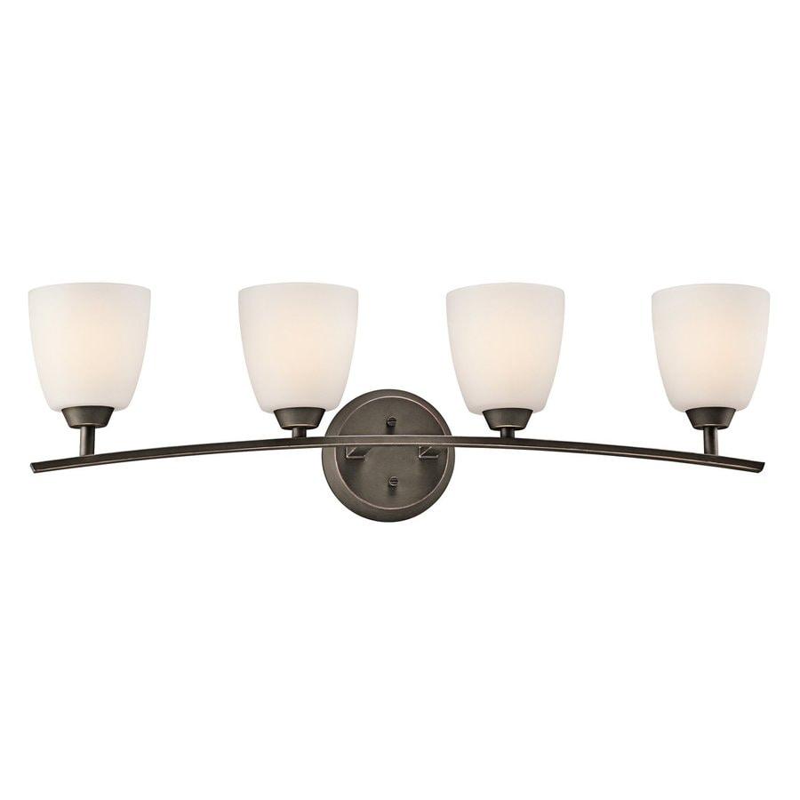 Kichler Granby 4-Light 9.5-in Olde Bronze Bell Vanity Light