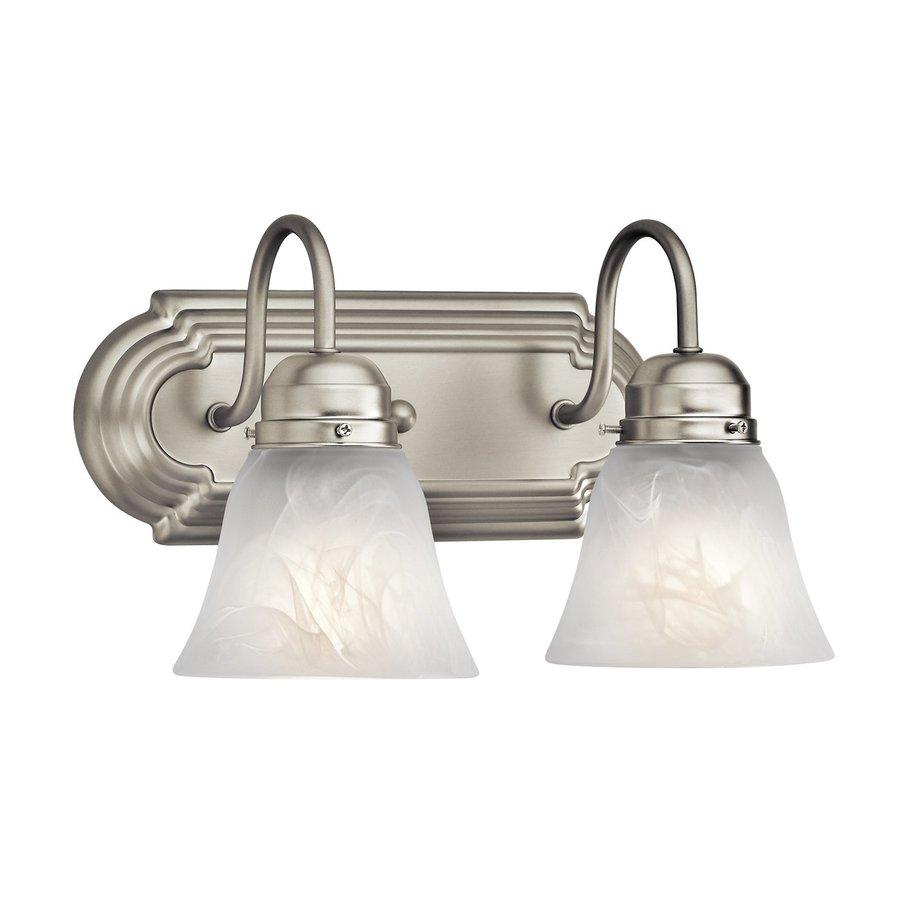 Kichler Lighting New Street 2-Light 8-in Brushed Nickel Bell Vanity Light