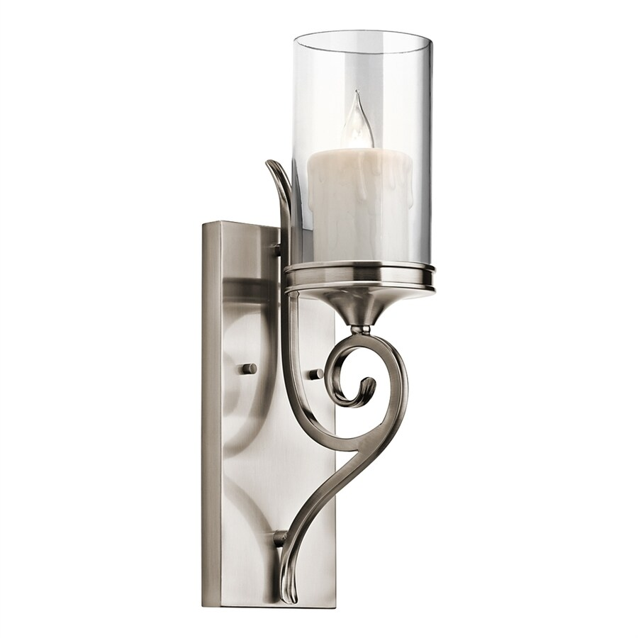 Kichler Lighting Lara 4.75-in W 1-Light Classic Pewter Arm Wall Sconce