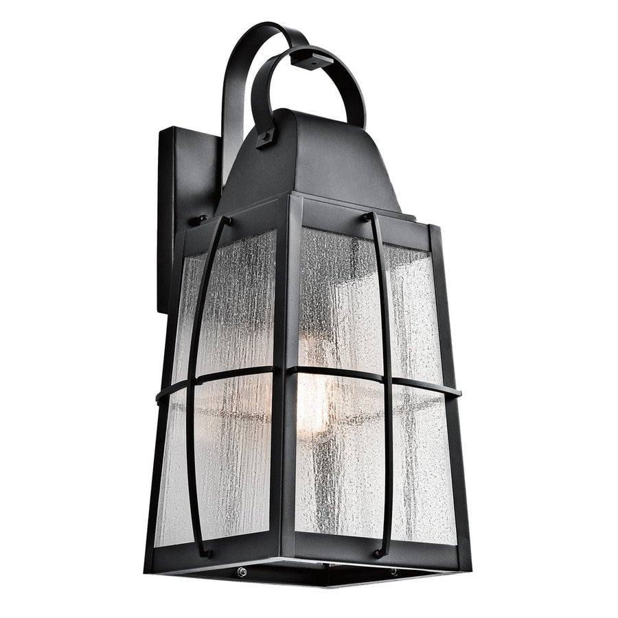 Kichler Lighting Tolerand 20.25-in H Textured Black Outdoor Wall Light
