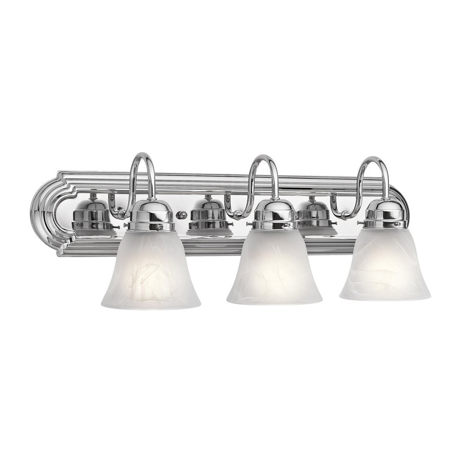 Kichler New Street 3-Light 8-in Chrome Bell Vanity Light
