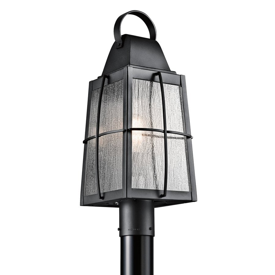 Kichler Lighting Tolerand 21.75-in H Textured Black Post Light