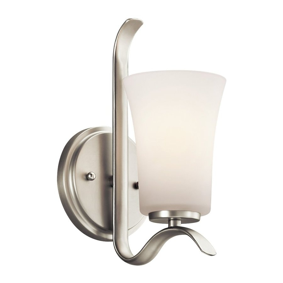 Kichler Armida 1-Light 10.75-in Brushed Nickel Bell Vanity Light