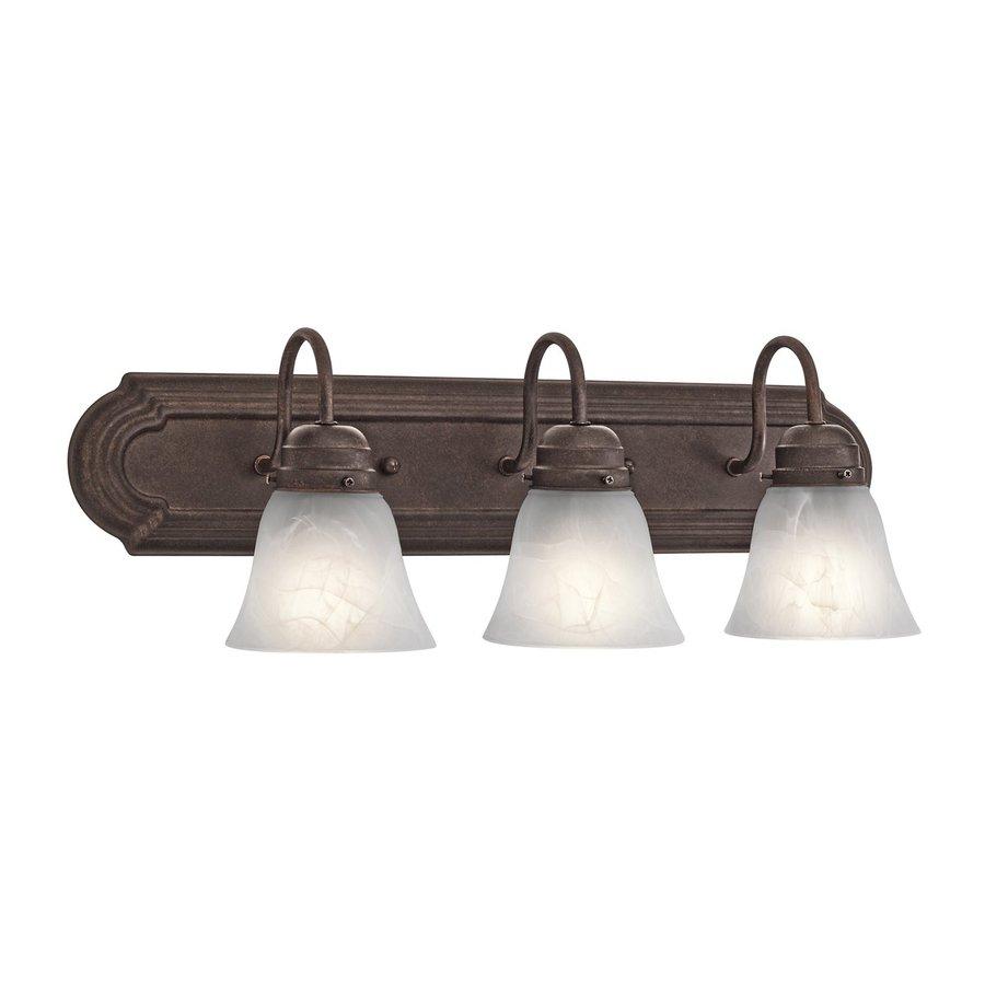 Kichler New Street 3-Light 8-in Tannery bronze Bell Vanity Light