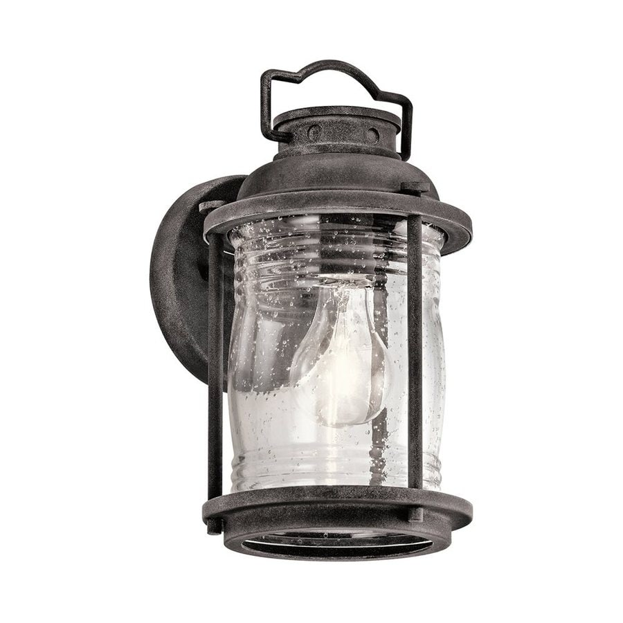 Kichler Ashland Bay 11-in H Weathered Zinc Outdoor Wall Light