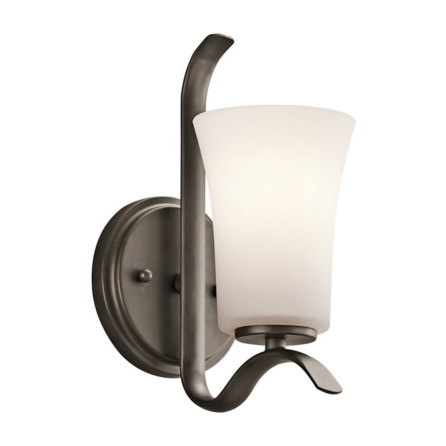 Kichler Armida 1-Light 10.75-in Olde Bronze Bell Vanity Light