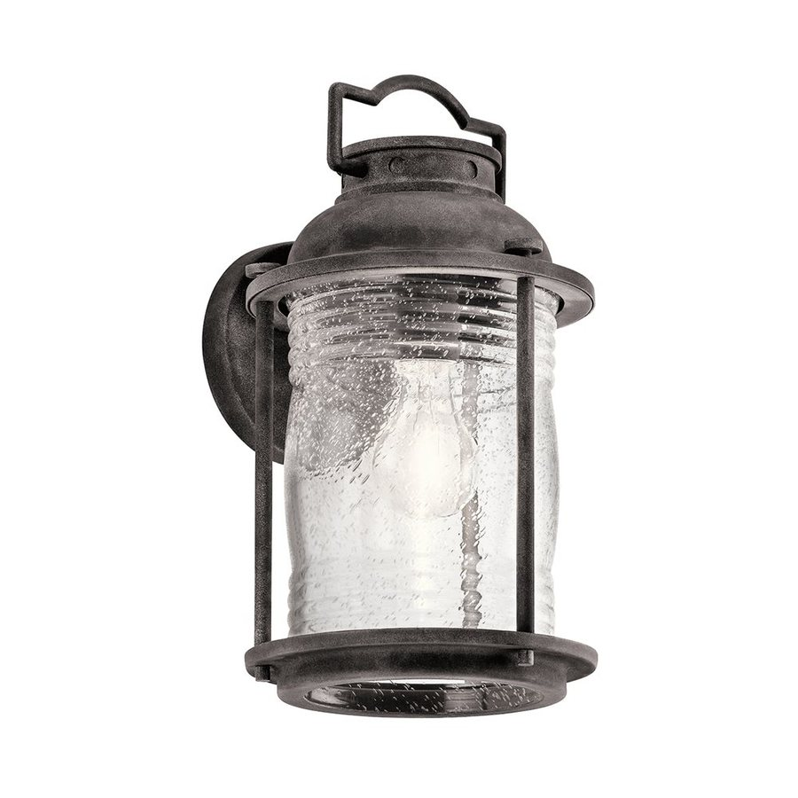 Kichler Ashland Bay 13.5-in H Weathered Zinc Outdoor Wall Light