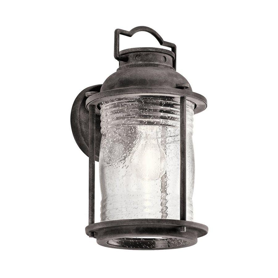 Kichler Lighting Ashland Bay 13.5-in H Weathered Zinc Outdoor Wall Light