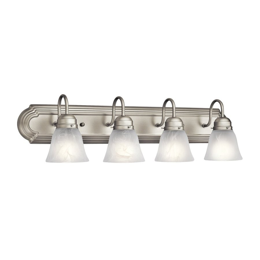 Shop Kichler New Street 4 Light 8 In Brushed Nickel Bell Vanity Light At