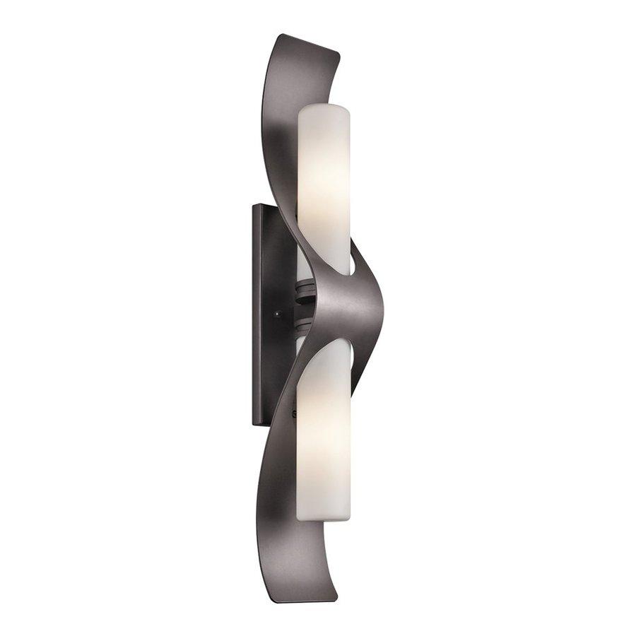 Kichler Lighting Zolder 26.5-in H Architectural Bronze Halogen Outdoor Wall Light
