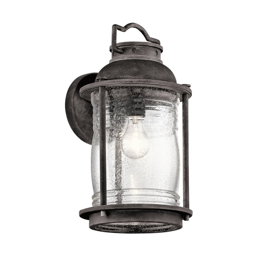 Kichler Lighting Ashland Bay 16-in H Weathered Zinc Outdoor Wall Light