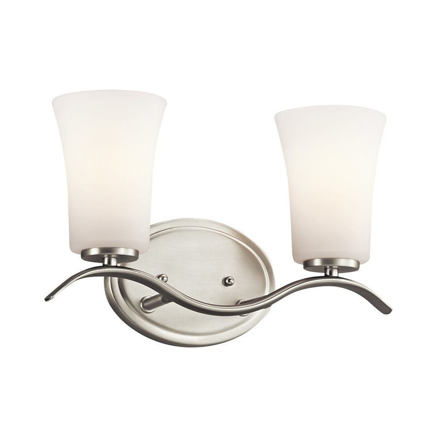 Kichler Armida 2-Light 8.75-in Brushed Nickel Bell Vanity Light