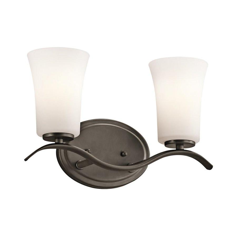 Kichler Armida 2-Light 8.75-in Olde Bronze Bell Vanity Light