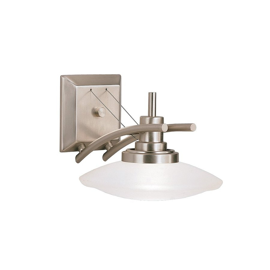 Kichler Lighting Structures 1-Light 7.5-in Brushed Nickel Dome Vanity Light