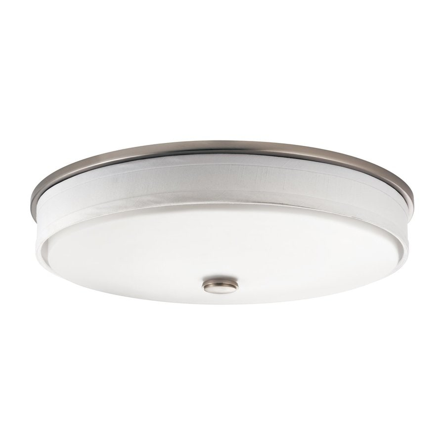 Kichler Santiago Brushed Nickel Flush Mount Fluorescent Light (Common: 1-ft; Actual: 13-in)