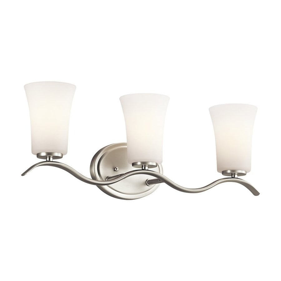 Kichler Lighting Armida 3-Light 8.5-in Brushed Nickel Bell Vanity Light