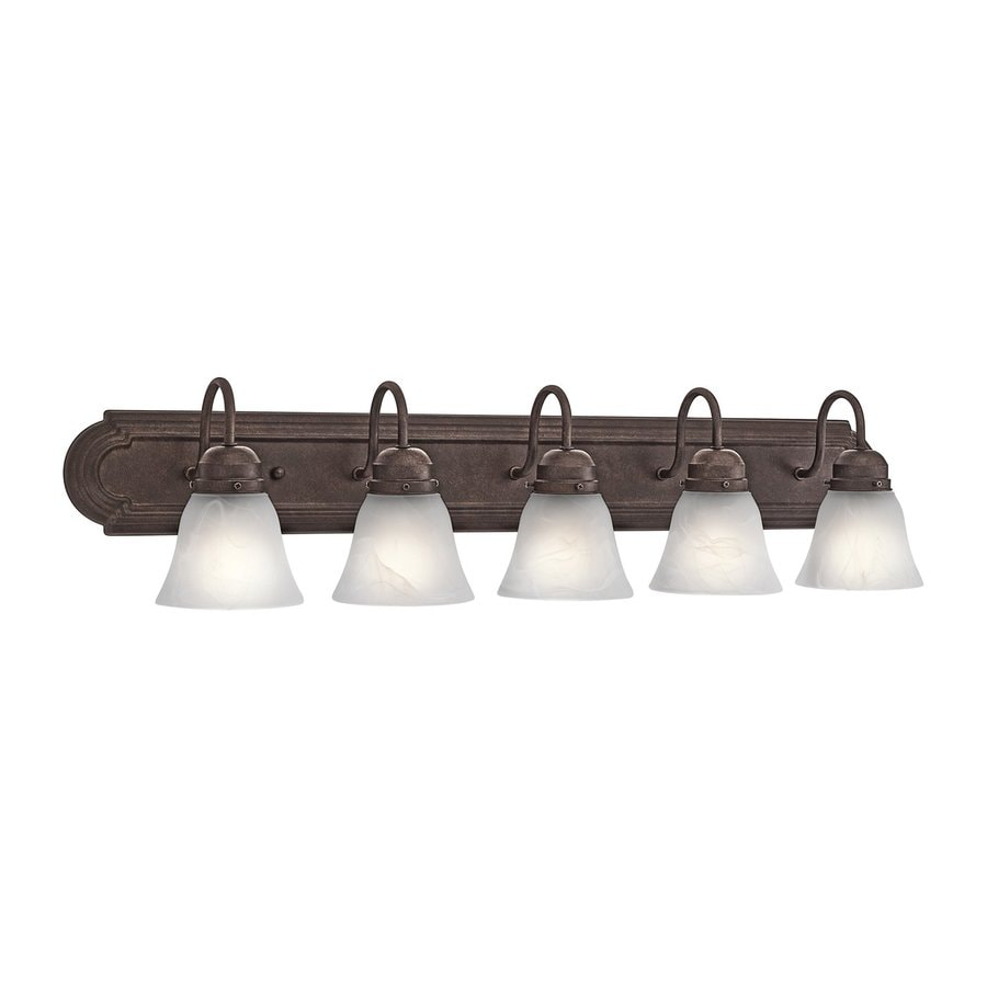 Kichler Lighting New Street 5-Light 8-in Tannery Bronze Bell Vanity Light