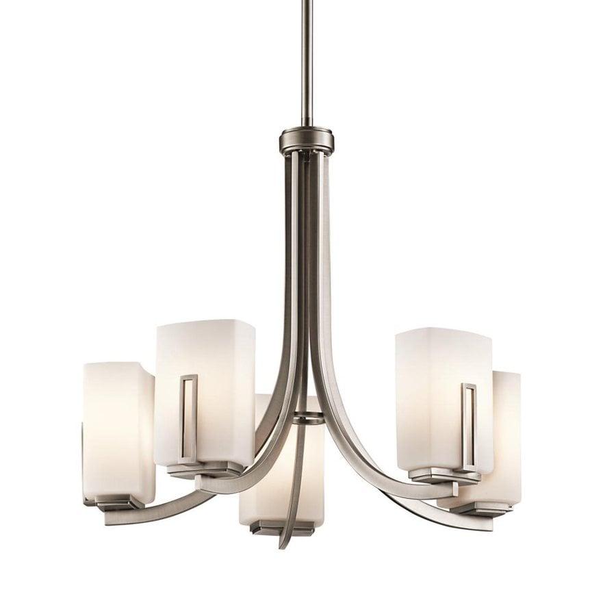 Shop kichler lighting leeds 5 light antique pewter chandelier at kichler lighting leeds 5 light antique pewter chandelier aloadofball Images