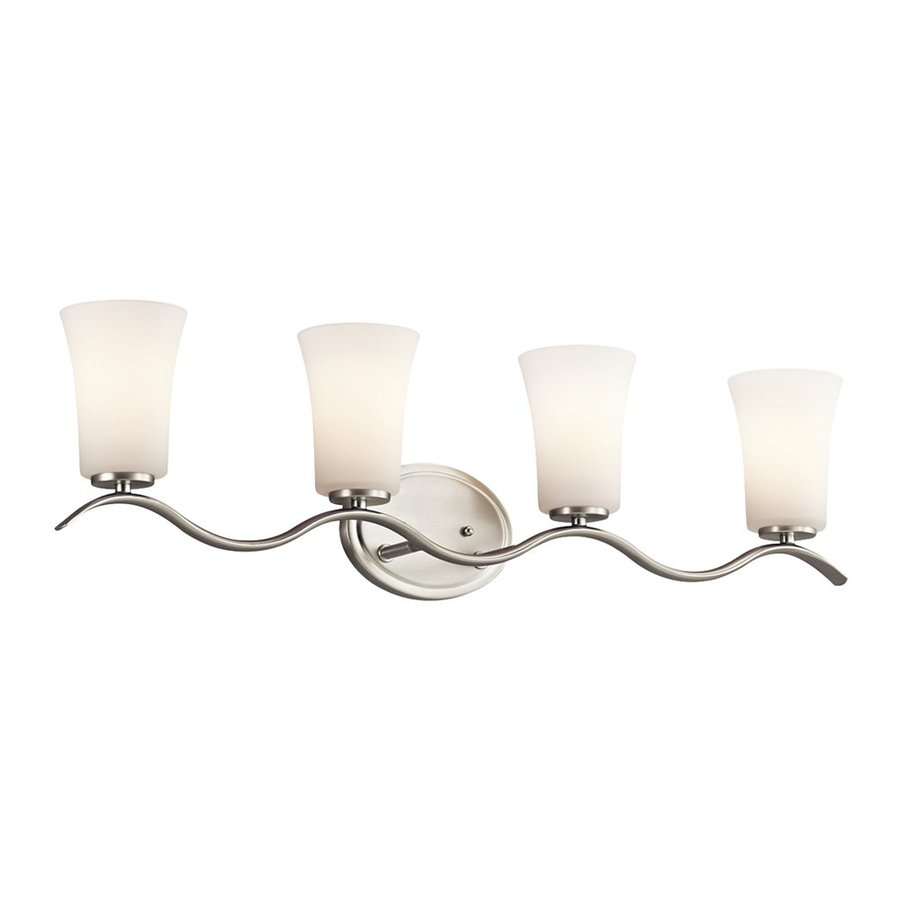 Kichler Armida 4-Light 9-in Brushed Nickel Bell Vanity Light