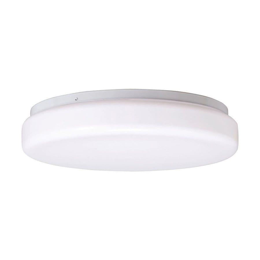 Kichler Lighting White Flush Mount Fluorescent Light (Common: 1-ft; Actual: 13.75-in)