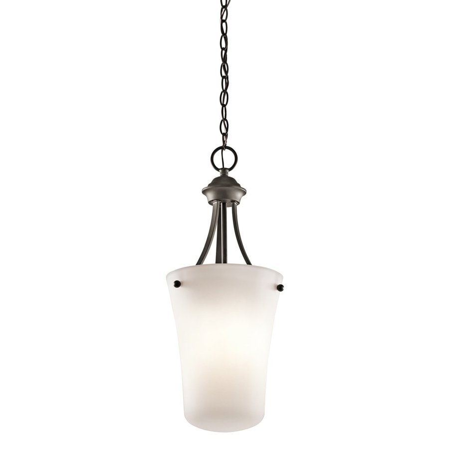 Kichler Keiran 10.5-in Olde Bronze Hardwired Single Etched Glass Urn Pendant