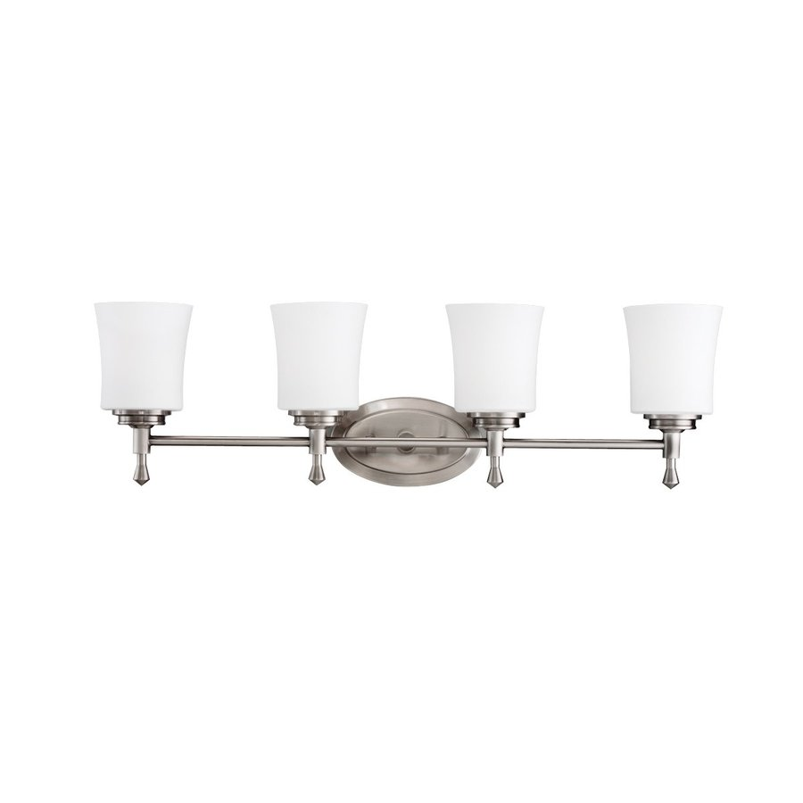 Kichler Lighting Wharton 4-Light 9-in Brushed Nickel Bell Vanity Light