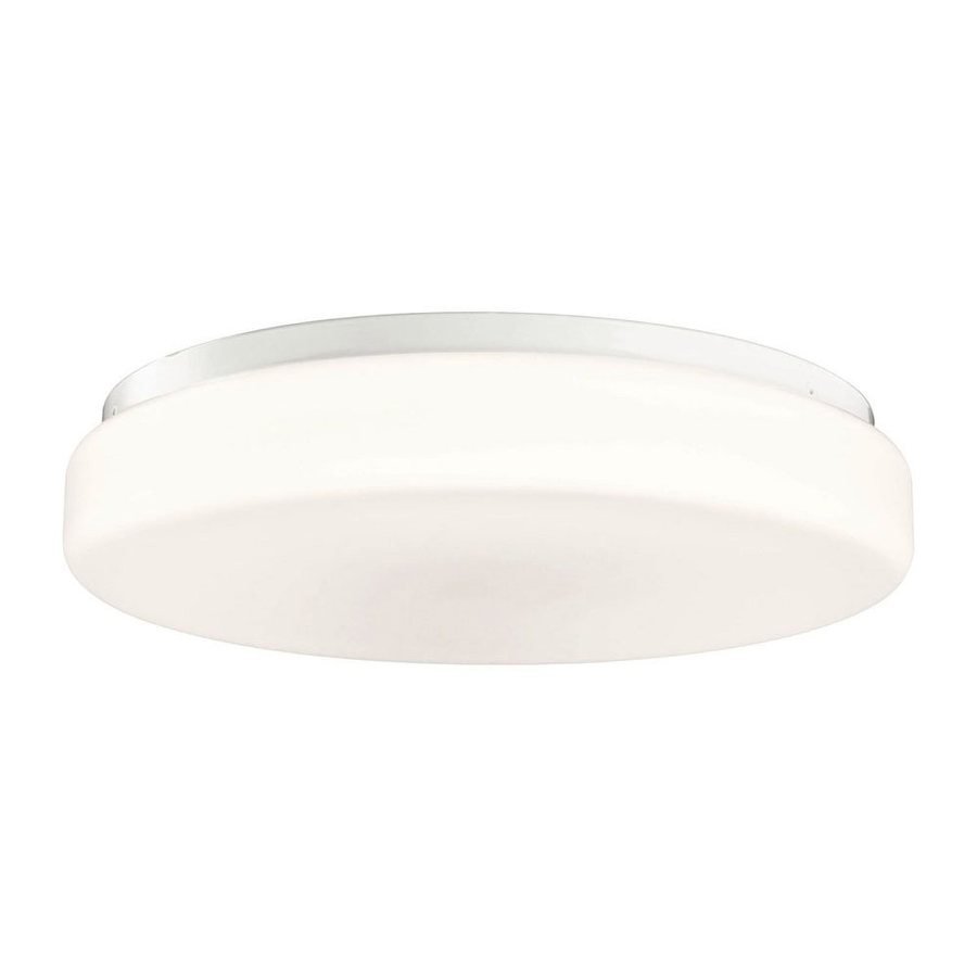 Kichler Lighting White Flush Mount Fluorescent Light (Common: 1.5-ft; Actual: 18.25-in)