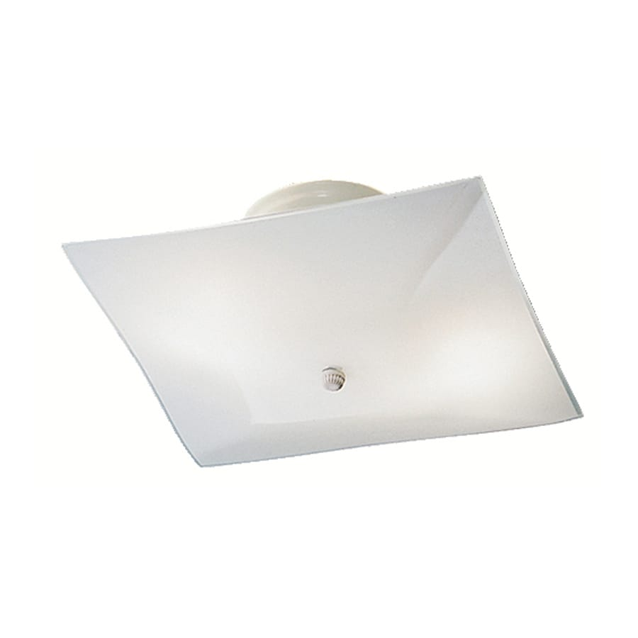 Kichler 12-Pack Ceiling Space 12-in W White Frosted Glass Semi-Flush Mount Light