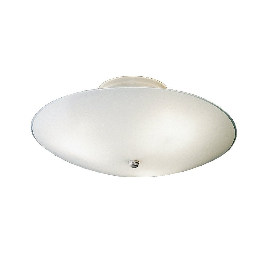 Kichler 6-Pack Ceiling Space 15.25-in W White Frosted Glass Semi-Flush Mount Light