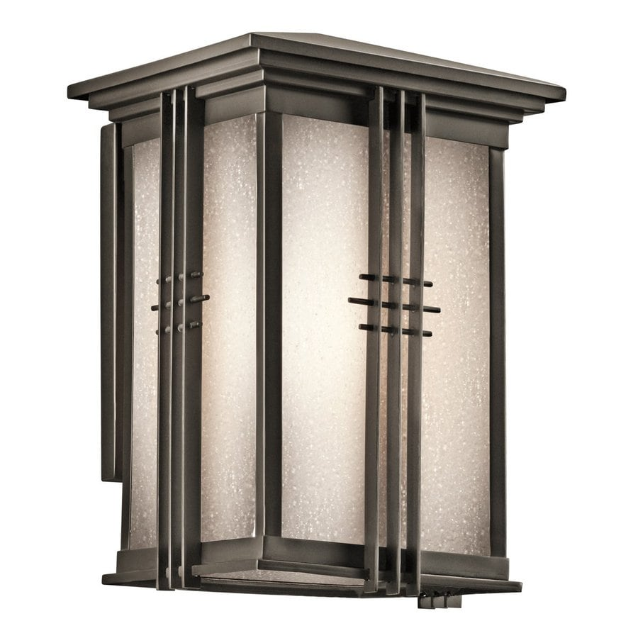 Kichler Lighting Portman Square 10.75-in H Olde Bronze Outdoor Wall Light