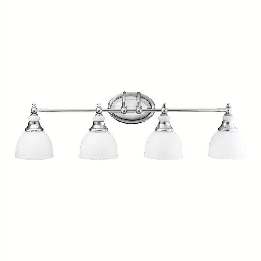 Kichler Vanity Lights Lowes : Shop Kichler Pocelona 4-Light 9-in Chrome Bell Vanity Light at Lowes.com