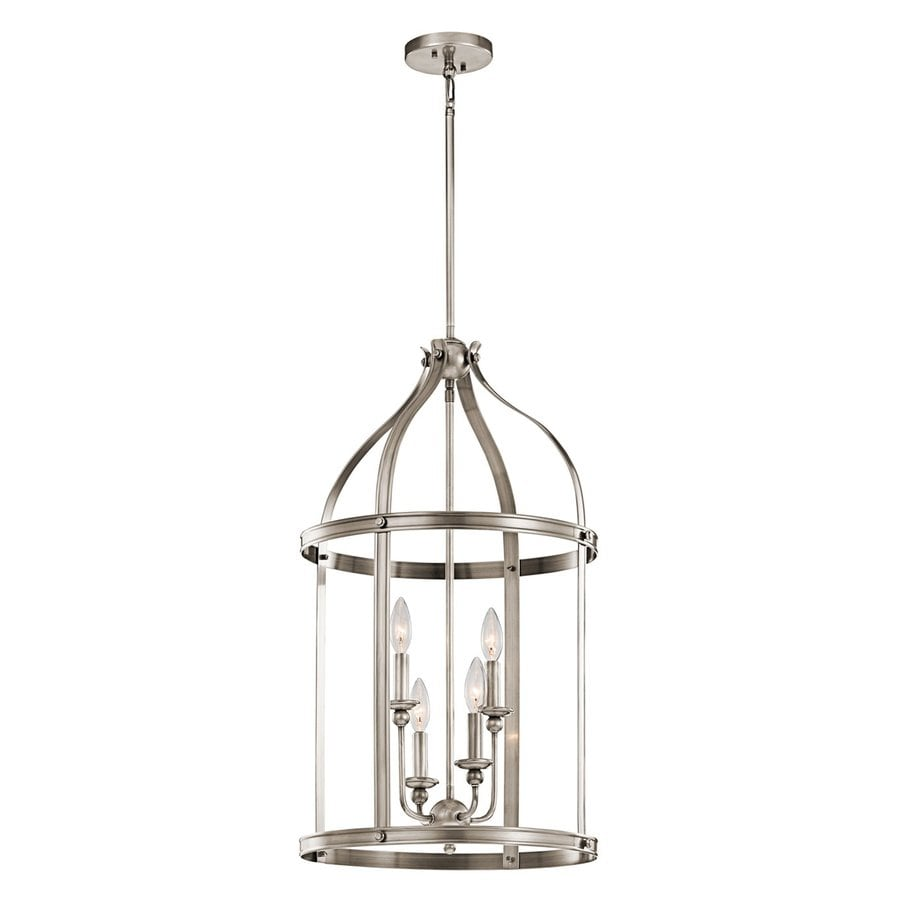 Kichler Lighting Steeplechase 17-in Classic Pewter Country Cottage Hardwired Single Cage Pendant