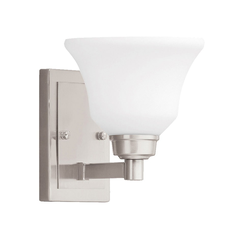 Kichler Langford 1-Light 7.75-in Brushed Nickel Bell Vanity Light
