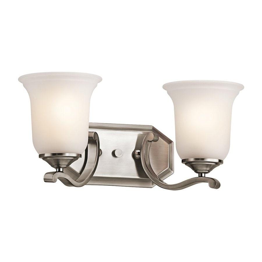Kichler Wellington Square 2-Light 7.5-in Classic Pewter Bell Vanity Light