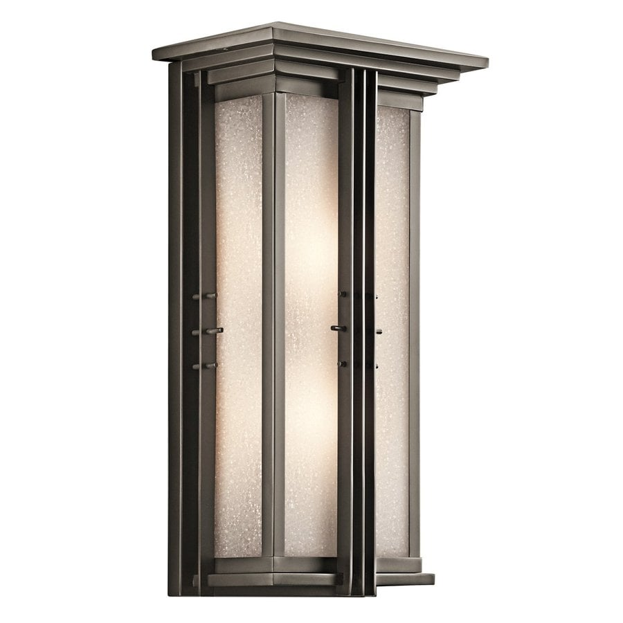 Kichler Portman Square 22-in H Olde Bronze Outdoor Wall Light