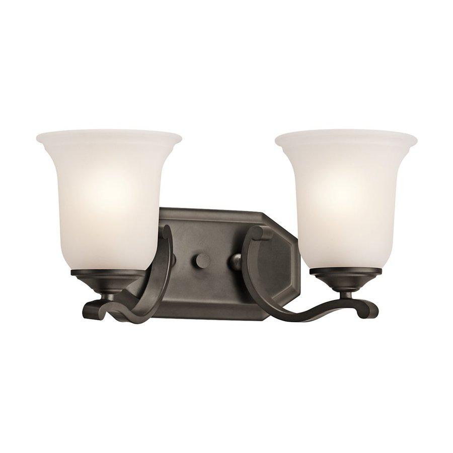 Kichler Lighting Wellington Square 2-Light Olde Bronze Bell Vanity Light